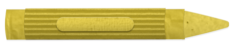 Yellow crayon made from corrugated cardboard